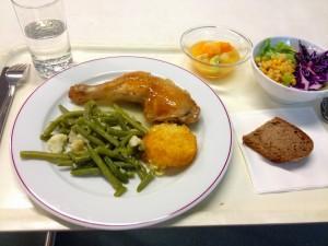 スイス・ローザンヌのフランス語サマーキャンプ・夕食