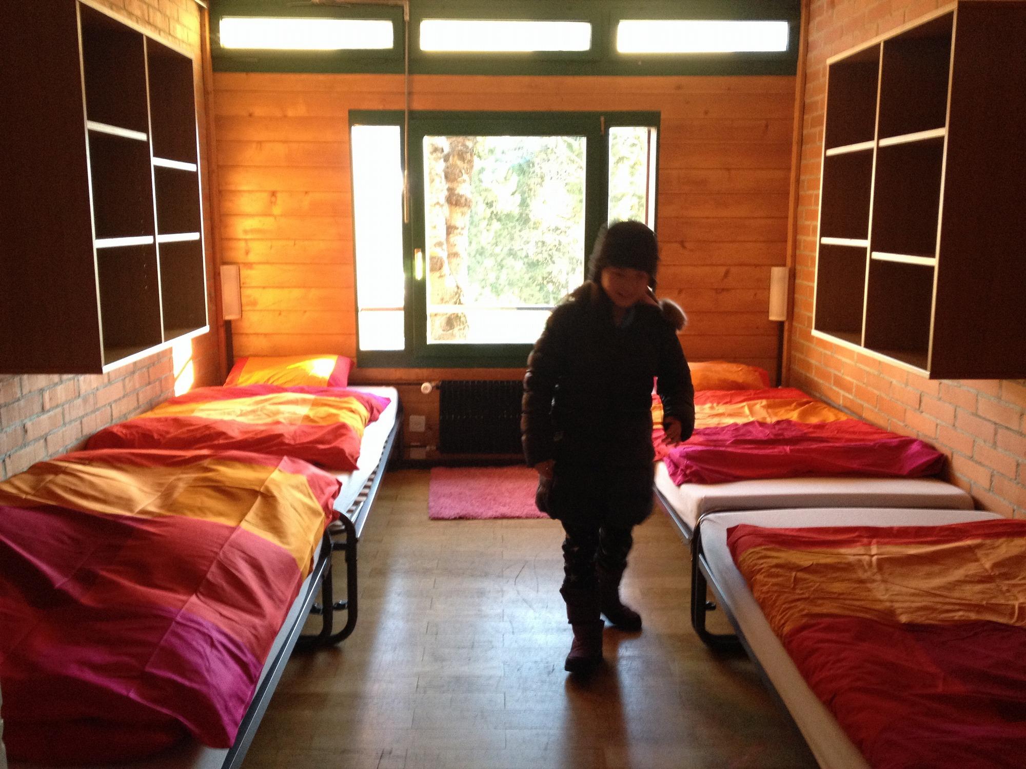スイス・ウインターキャンプの寮室