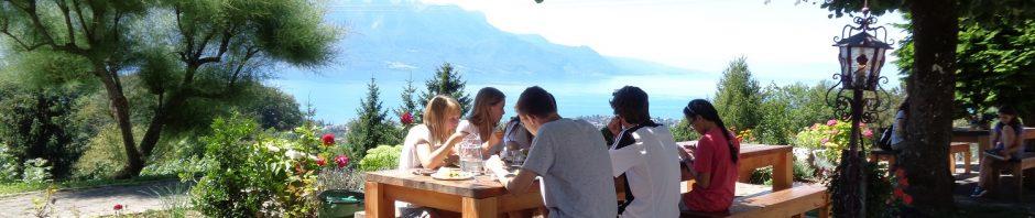 シャントメルレでレマン湖を眺めながらランチ