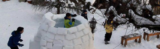 シャントメルレ校の子供達も冬を満喫