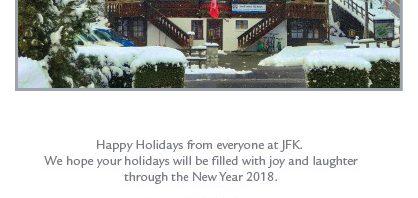 ジョン・F・ ケネディー校からクリスマスカードが届きました
