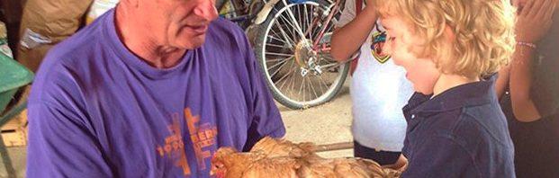 コレージュ・シャンピテの1年生が農場見学