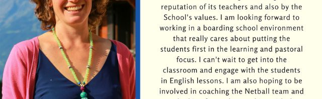 エイグロン・カレッジ 新しい英語の先生をご紹介