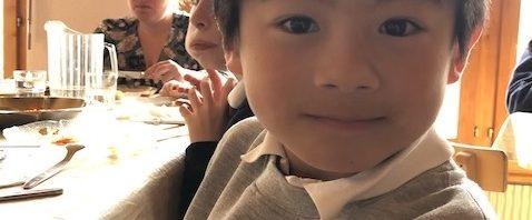 プレフルーリでの正規留学を終えたリョウ君8歳